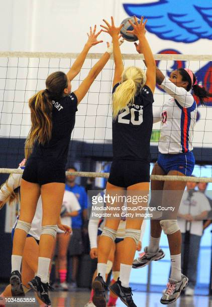 LOS ALAMITOS Los Alamitos girls volleyball handed Newport Harbor a 30 sweep Wednesday On match point Los Al's Crissy Jones drops the ball around...