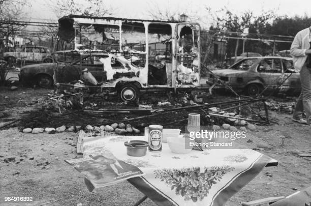 'Los Alfaques' campsite devastated by a propane gas explosion after a truck loaded with 43 tonnes of propane hit a building and exploded Alcanar...