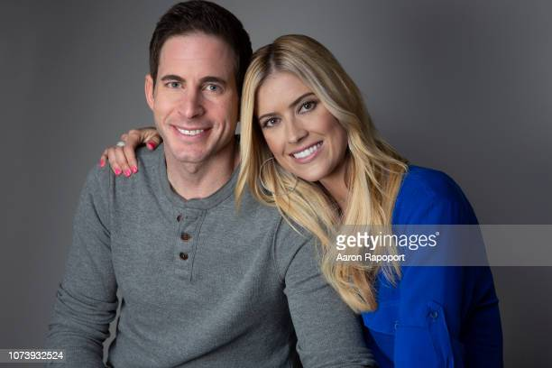 'Flip or Flop' hosts pose for a portrait session in November 2017 in Los Angeles, California,