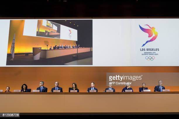 Los Angeles 2024 Olympic bid Vice Chair and director of paralympic Candace Cable US International Olympic Committee member Anita DeFrantz Los Angeles...
