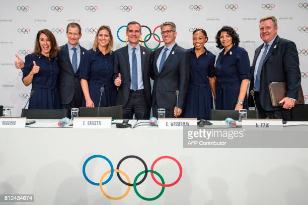 Los Angeles 2024 Olympic bid Vice Chair and Olympic champion Janet Evans Los Angeles 2024 CEO Gene Sykes Head of the International Olympic Committee...