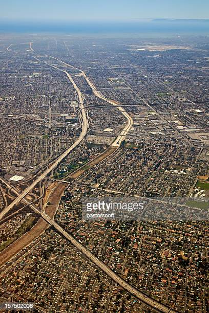 Los Angeles'  605 and Lakewood at 3,000 Feet