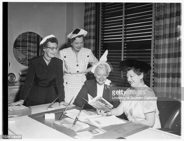 Los Angeles Advertising Women's Convention 14 June 1951 Office of Helen Edwards President ElectMary Buchanan Retiring PresidentDoria BalliNathalie...