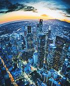 Los Angeles aerial view skyline
