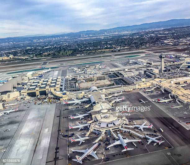 Los Angeles Airport from above, USA