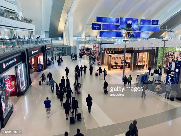 los angeles airport, tom bradley international terminal - lax airport stock pictures, royalty-free photos & images