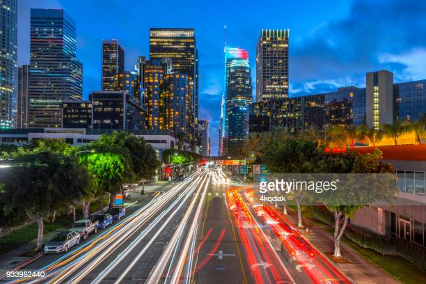 Los Angeles and Traffic at Dusk