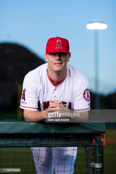 Los Angeles Angels coach Andrew Bailey poses for a portrait during the Los Angeles Angels photo day on Tuesday Feb 19 2019 at Tempe Diablo Stadium in...