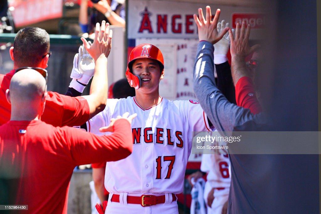 MLB: JUN 30 Athletics at Angels : News Photo