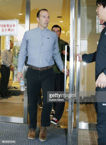 Los Angeles Angels general manager Billy Eppler is pictured visiting the Nippon Ham Fighters facility where the Angels' new signing Shohei Ohtani has...