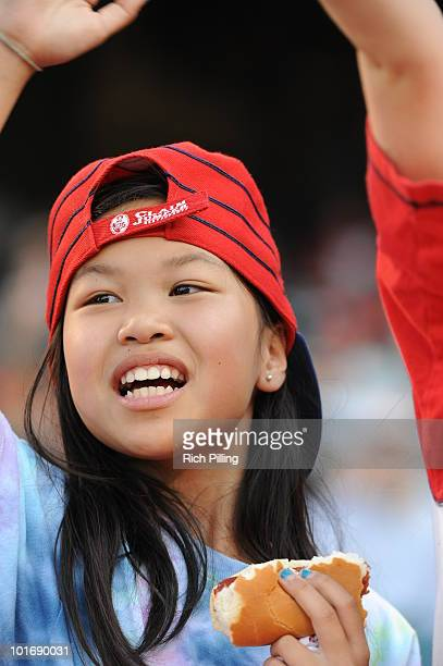 Los Angeles Angels of Anaheim fans are seen prior to the game against the Oakland Athletics at Angel Stadium in Anaheim California on May 15 2010 The...