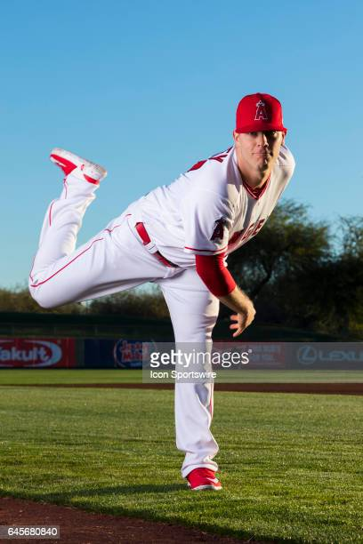 Los Angeles Angels of Anaheim pitcher Andrew Bailey during photo day on February 21 at Tempe Diablo Stadium in Tempe Ariz
