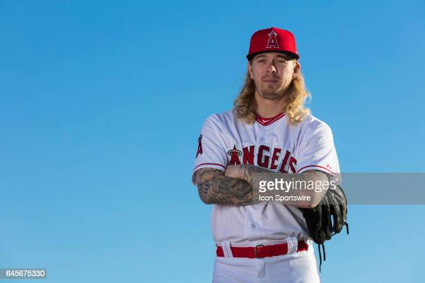 Los Angeles Angels of Anaheim pitcher John Lamb during photo day on February 21 at Tempe Diablo Stadium in Tempe Ariz