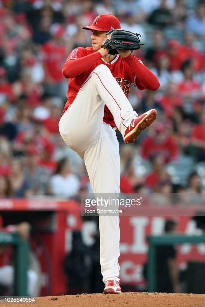 Los Angeles Angels of Anaheim pitcher Tyler Skaggs in action during the first inning of a game against the Chicago White Sox played on July 25 2018...