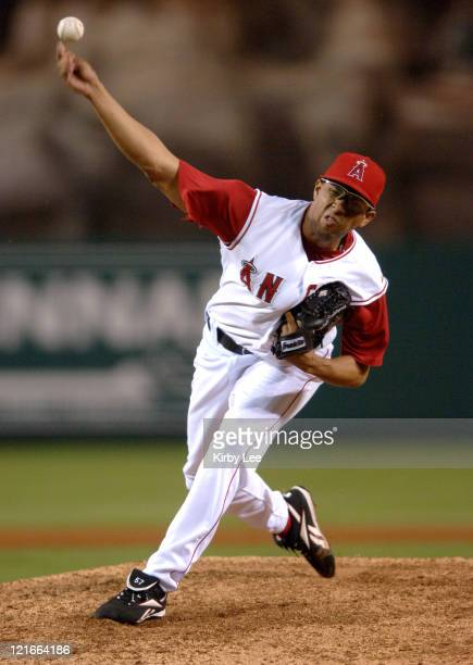 Los Angeles Angels of Anaheim reliever Francisco Rodriguez pitches in the ninth inning of 97 victory over the Seattle Mariners en route to his 34th...