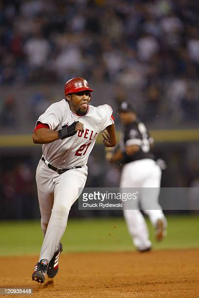 Los Angeles Angels' Right Fielder Vladimir Guerrero hustles around the bases during the Angels' 125 victory over the Chicago White Sox May 10 2006 at...