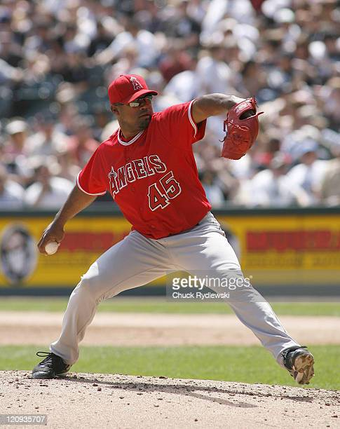 Los Angeles Angels' Starter, Kelvim Escobar pitches during their game versus the Chicago White Sox April 29, 2007 at U.S. Cellular Field in Chicago,...