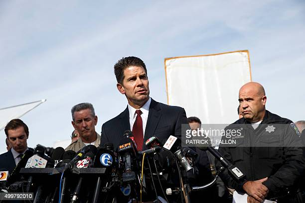 FBI Los Angeles Assistant Director in Charge David Bowdich speaks during a press conference about a mass shooting at the Inland Regional Center on...