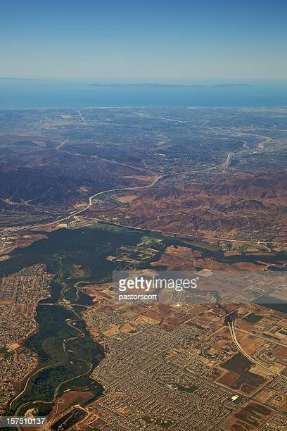 los angeles at 5,000 feet xxxl - corona stock pictures, royalty-free photos & images