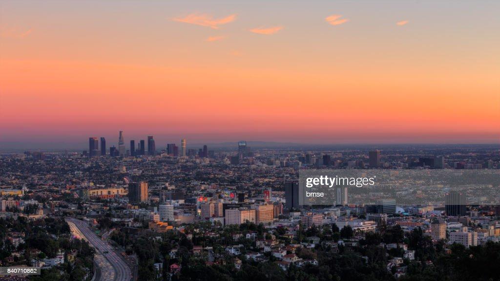 Los Angeles at Dusk : ストックフォト