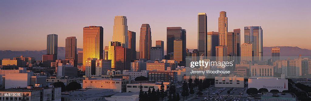Los Angeles at sunset : Foto de stock