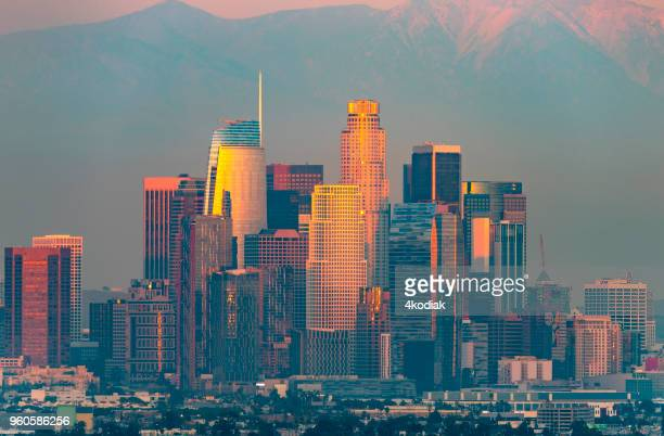 los angeles at twilight - beverly hills california stock pictures, royalty-free photos & images