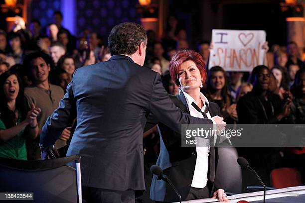 """Los Angeles Auditions"""" -- Pictured: Piers Morgan, Sharon Osbourne"""