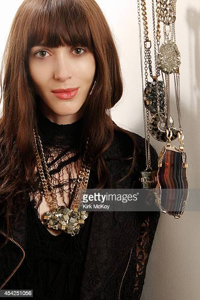 Los Angeles based jewelry designer Michelle Laine is photographed for Los Angeles Times on April 12 2011 in Los Angeles California CREDIT MUST BE...