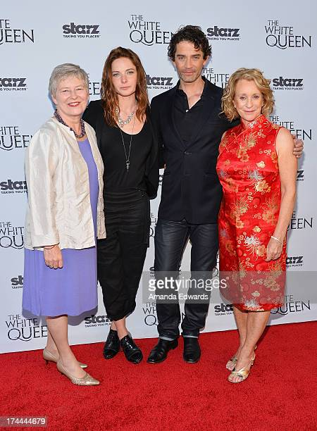 Los Angeles British ConsulGeneral Dame Barbara Hay actress Rebecca Ferguson actor James Frain and author Philippa Gregory arrive at Cocktails with...