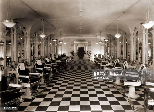 Los Angeles c 1923 The Biltmore Hotel barber shop Hotels