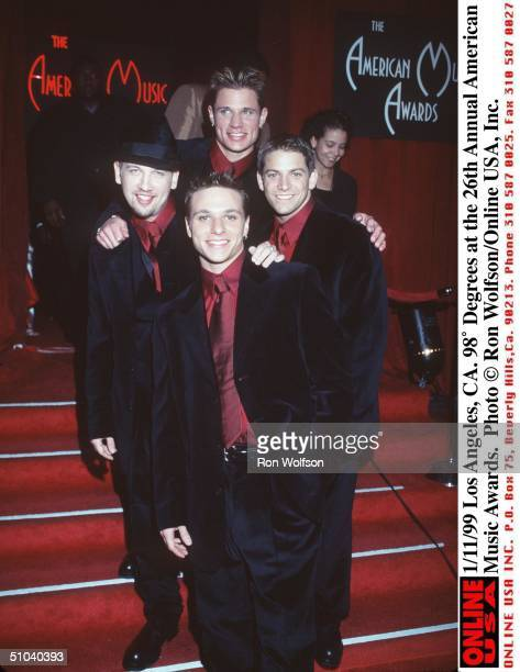 Los Angeles Ca 98 Degrees At The 26Th Annual American Music Awards