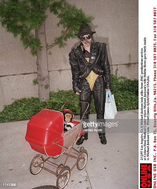 Los Angeles Ca A Michael Jackson look alike arrives at CidarsSinai Medical Center where Michael Jackson wife Debbie Rowe just gave birth to their son