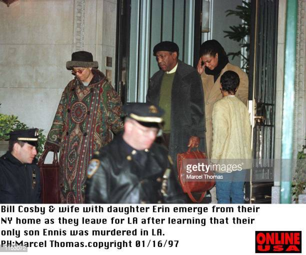 Los Angeles Ca Bill Cosby family leaves for LA after learning that his only son Ennis was murdered in LA