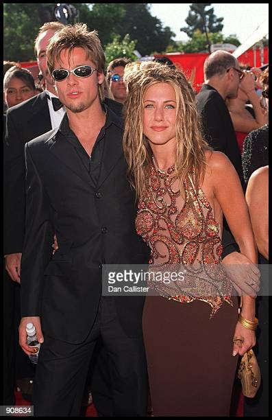 09/12/99 Los Angeles CA Brad Pitt and Jennifer Aniston arrive at the 51st Annual primetime EMMY Awards Picture by DAN CALLISTER Online USA Inc