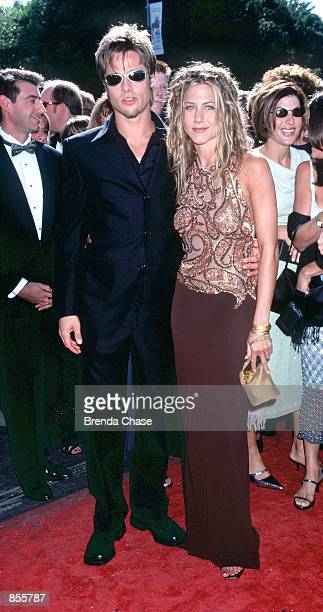 Los Angeles CA Brad Pitt and Jennifer Aniston at the 51st Annual primetime Emmy Awards Photo by Brenda Chase/Online USA Inc