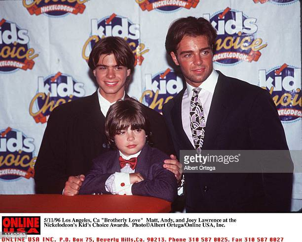 Los Angeles Ca 'Brotherly Love' Matt Andy Joey Lawrence at the Nickelodean's Kid's choice awards