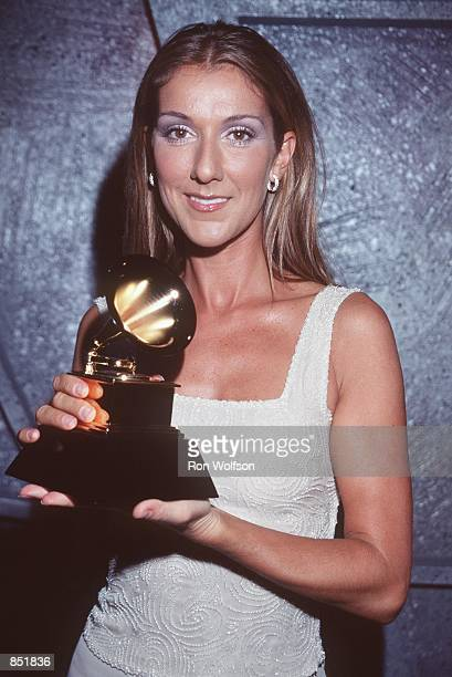 Los Angeles CA Celine Dion at the press room after the 41st Annual Grammy Awards