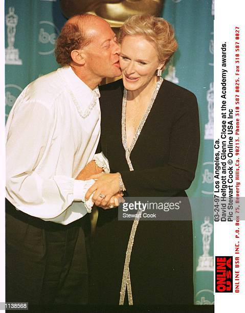 Los Angeles Ca David Helfgott and Glenn Close at the Academy awards