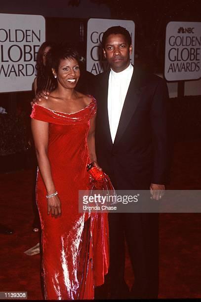 Los Angeles CA Denzel Washington and wife Pauletta at the Golden Globe Awards Photo Brenda Chase Online USA Inc