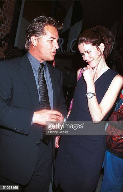 Los Angeles, Ca Don Johnson And New Wife Kelley Phleger Leaving Mr. Chow's Restaurant.