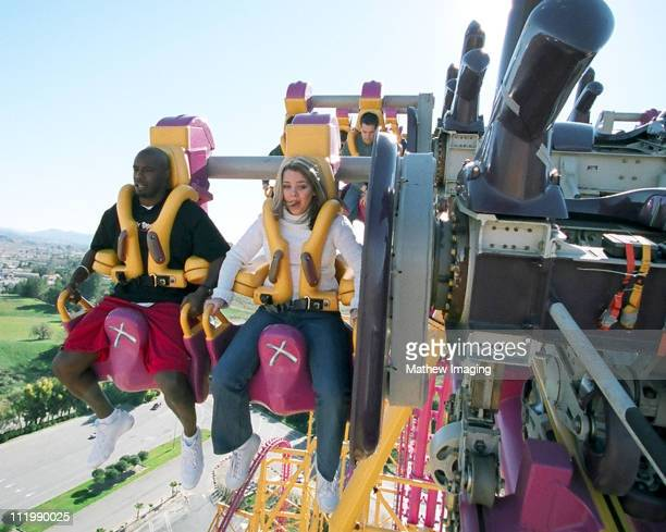 Los Angeles CA Feb 09 Six Flags Magic Mountain in Los Angeles rolled out the red carpet for Super Bowl MVP Dexter Jackson and friends as he embarked...
