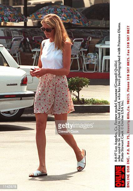 Los Angeles Ca Former model Suzanne Quilici who was married to Dodi Fayed who has been photographed with princess Diana