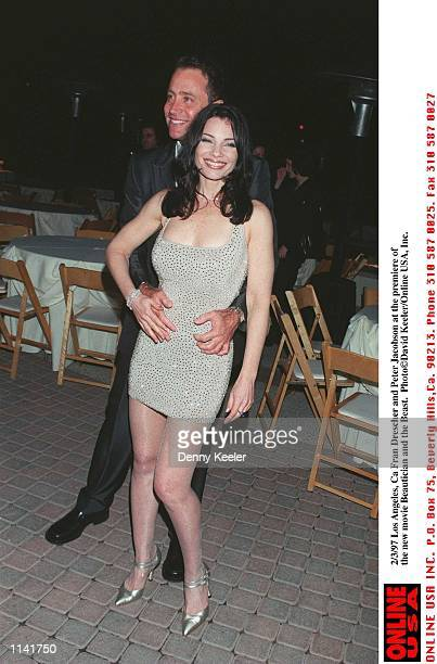 Los Angeles CA Fran Drescher and Peter Marc Jacobson at the premiere of the new movie 'Beautician and the Beast'