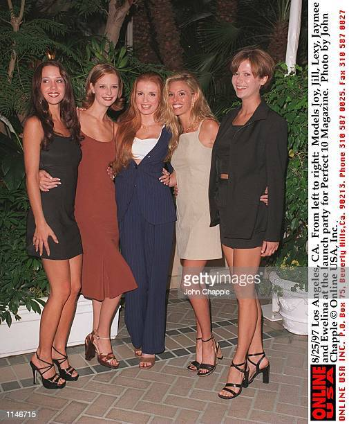 Models Joy Jill Lexy Jaymee and Ewelina at the launch party for Perfect 10 Magazine