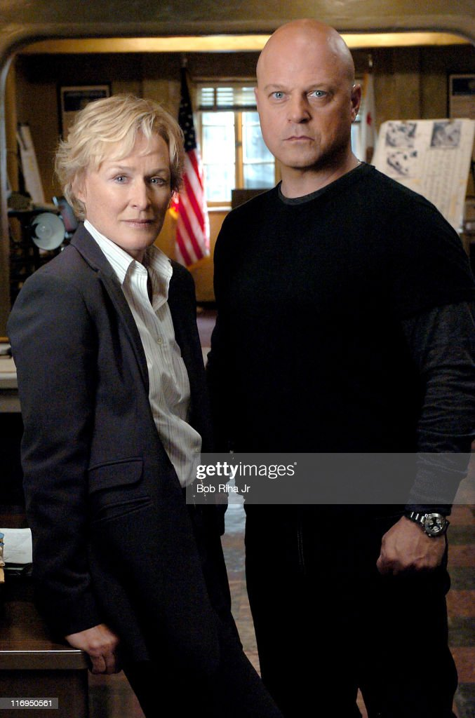 """Glenn Close and Michael Chiklis on Set of FX Series """"The Shield"""" - March 3, 2005"""