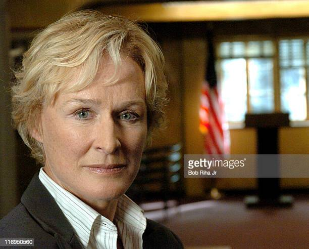 """Los Angeles, CA Glenn Close on the set of FX series """"The Shield,"""" which Close joins this season as the precinct captain."""