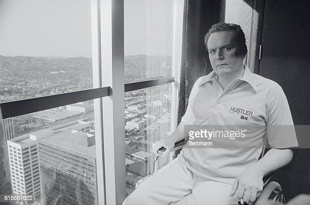 Hustler magazine owner Larry Flynt was gunned down a year ago in the midst of an obscenity trail for selling his magazine in Atlanta A mistrial was...