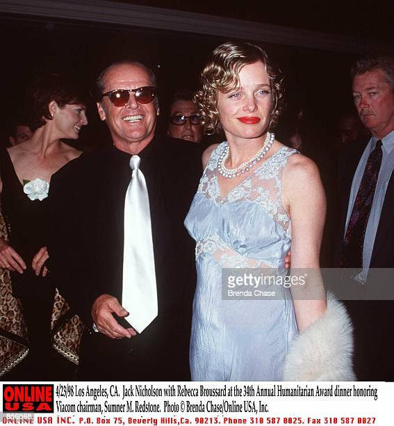 Los Angeles CA Jack Nicholson with Rebecca Broussard at the 34th Annual Humanitarian Award Dinner honoring Viacom chairman Sumner M Redstone