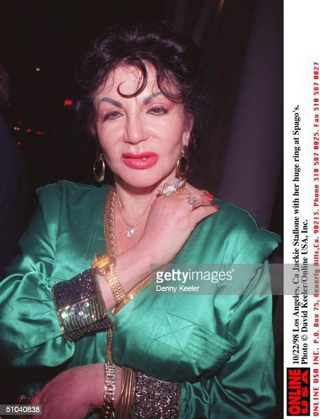 Los Angeles Ca Jackie Stallone In Heavy Jewelery At Spago's