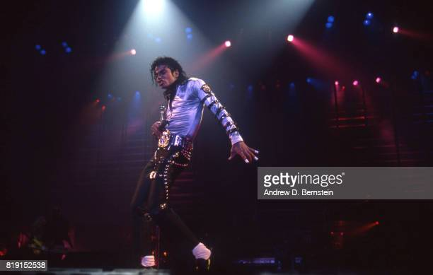 Los Angeles CA Jan 18 1989 Michael Jackson performs live at LA Sports Arena